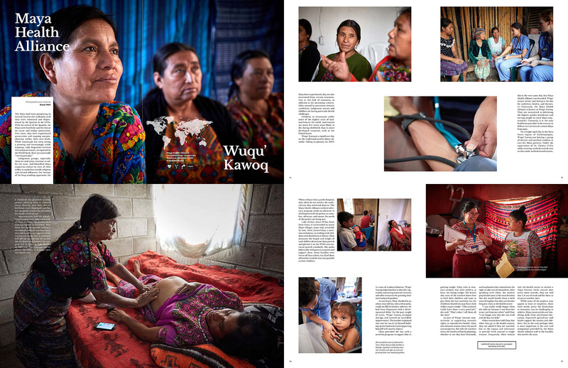 8-page story about the Maya Health Alliance, Wuqu' Kawoq